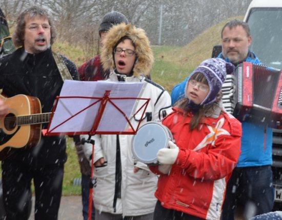 Singen im Schnee